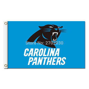 Blue Custom Carolina Panthers Flag Flying Football Team 3ft X 5ft Banner Super Bowl Champions Carolina Panthers Banner