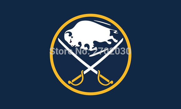 Buffalo SabresS ports Fans  Ice Hockey Sports Team Flag 3ft X 5ft Custom Banner With Sleeve Two Gromets 90*150CM
