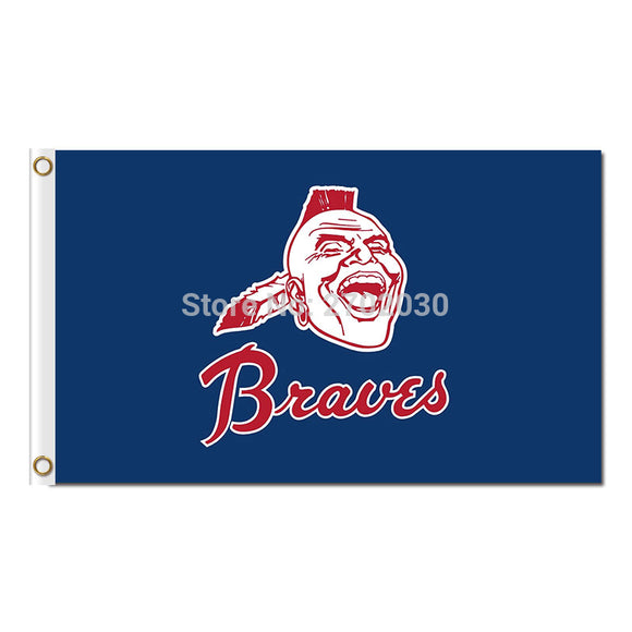 Brave Atlanta Braves Flag Sport Baseball Team Custom Logo Banners 3x5 Ft Major League Baseball Flags Blue