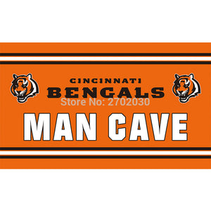Man Cave Cincinnati Bengals Flag Super Bowl Champions Football Team Fan World Series 3ft X 5ft Banner 100D Polyester