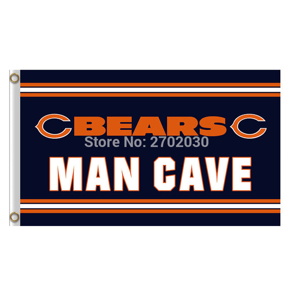 Man Cave Chicago Bears Flag Banners Football Team Flags 3x5 Ft Super Bowl Champions Banner Red Star World Series 90x150