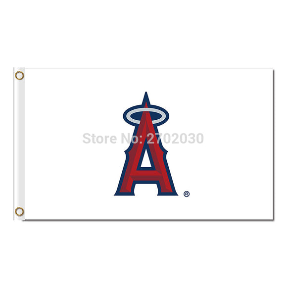 A Design White Los Angeles Angels Of Anaheim Flag Banner World Series Champions Baseball Cub Fans Team Flags 3x5 Ft