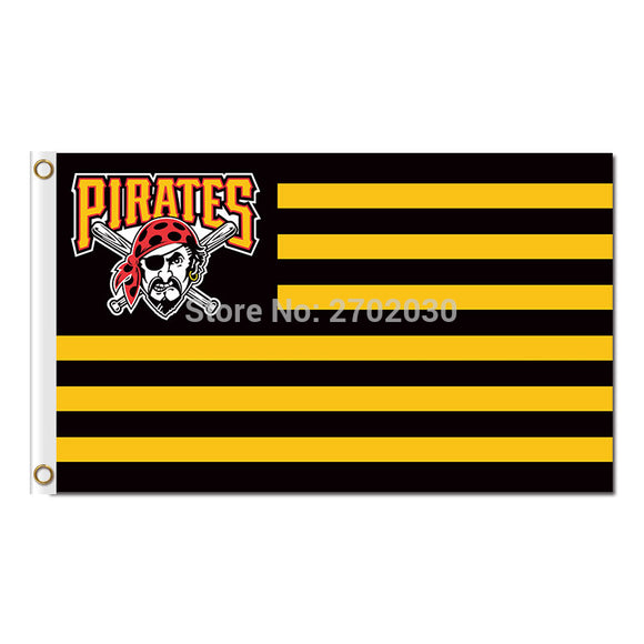 Usa Nation Banner P Design Pittsburgh Pirates Flag World Series Champions Baseball Fan Team Flags 3x5ft Strip And Star Banners