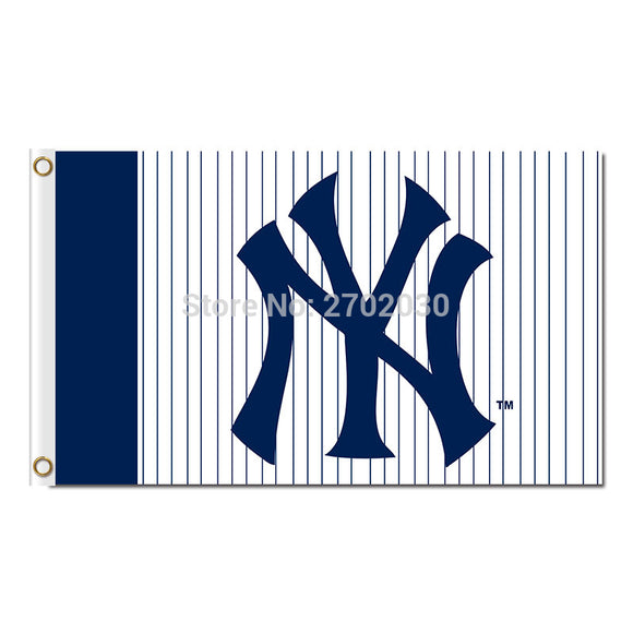 Blue New York Yankees Flag Baseball Strip World Series Champions Super Fan Team Flags Banner Banners Flying Hand