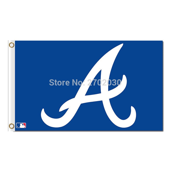 Blue A Design Atlanta Braves Flag Sport Baseball Team Custom Logo Banners 3x5 Ft Major League Baseball Flags Banner 90x150cm