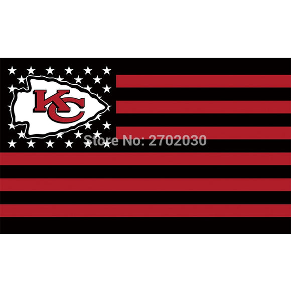 Black Us America Country Custom Kansas City Chiefs Flag Football Team Flags 3x5 Super Bowl Champions Banner Fans Banners