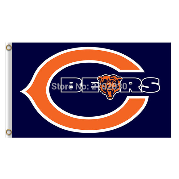 Chicago Bears Flag Banners Football Team Flags 3x5 Ft Super Bowl Champions Banner 90x150cm