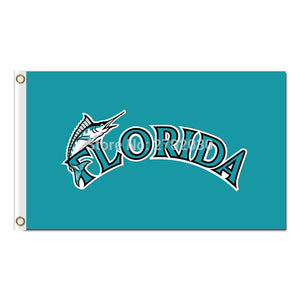 Florida Marlins Flag World Series Champions Football Fans Team Banners Flags Banner 3x5 Ft