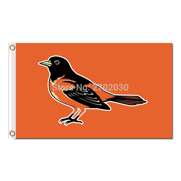 Baltimore Orioles Flag Fan Baseball Team Custom Banners Major League Baseball Flags Banner Orange 90 x 150 cm