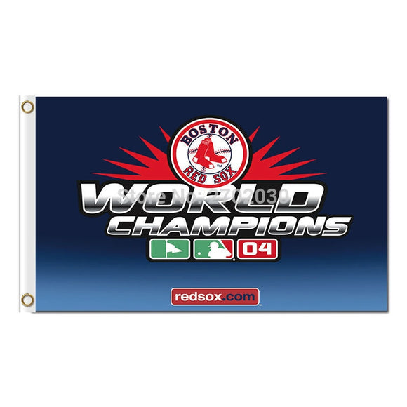 Boston Red Sox Flag Fans Baseball Team Custom Banners Major League Baseball Flags Banner 3x5 Ft 90x150 Cm World Champions