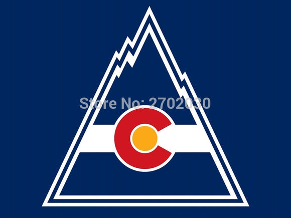 Colorado Rockies  Ice Hockey Sports Team Flag 3ft X 5ft Custom Banner With Sleeve Gromets 90*150CM
