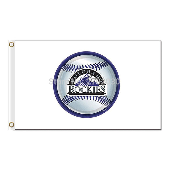 Baseball Design Colorado Rockies Flag Baseball Super Fans Team Banners Major League Flags Champions Banner Red 3x5ft