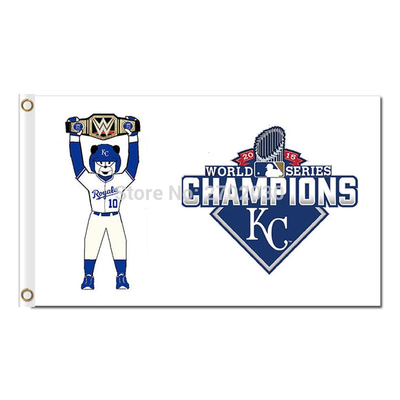 10 Kansas City Royals World Series Champions Belt Flag Baseball Fan Super Team Banners Flags And Champions Banner 3x5ft