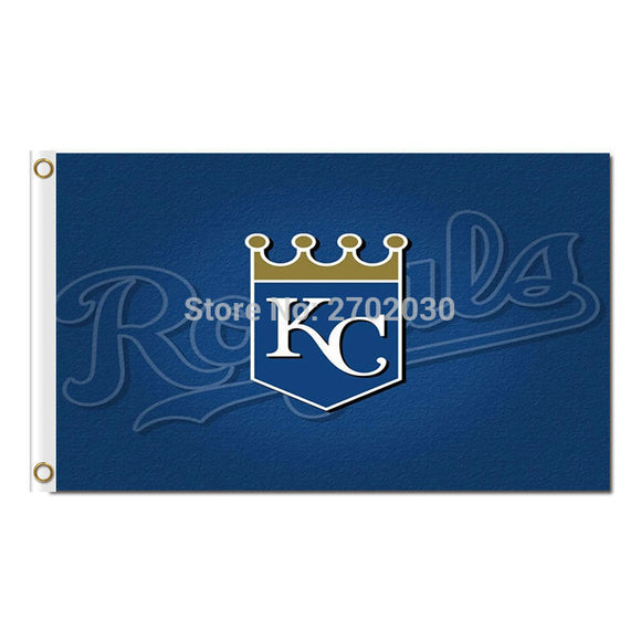 Crown Kansas City Royals Flag Baseball Fan Team Banners Flags And World Series Champions 90x150 Cm Banner Polyester