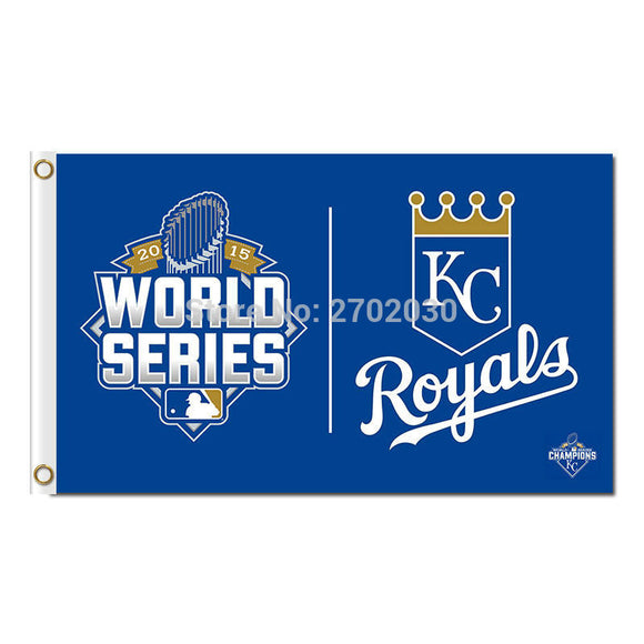 KC Kansas City Royals Flag Baseball Fan Team Banners Flags And World Series Champions 3x5 Ft Banner Hand 100d Polyester