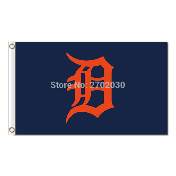 Blue Detroit Tigers Flag Baseball Super Fan Team Banners Major League Flags World Series Champions Banner 3x5ft Champion