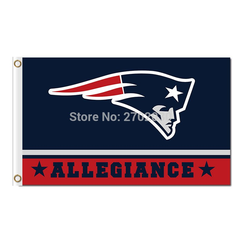 Allegiance New England Patriots Flag Football Team Banners 90 X 150 Cm Banner Super Bowl World Champions 100D Polyester Flag