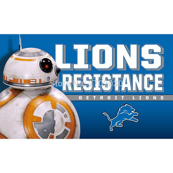 Detroit Lions Flag Resistance World Series Football Team 3ft X 5ft Banner Super Bowl Champions Detroit Lions Banner Flag