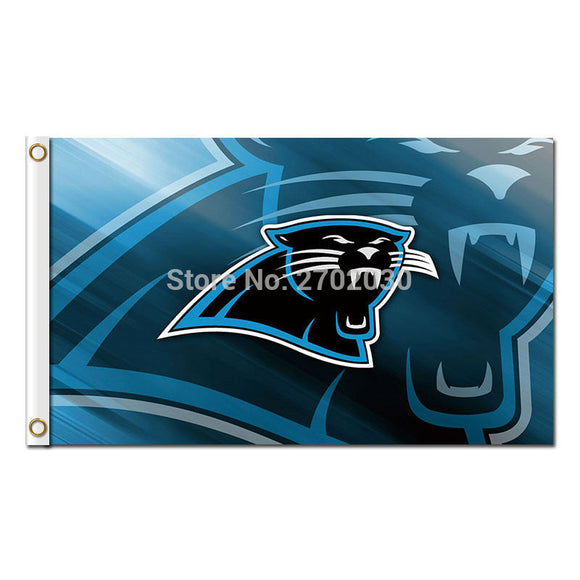 Carolina Panthers Design Flag Team 3ft X 5ft Banners Super Bowl Champions Carolina Panthers Banner 2 Metal Grommets