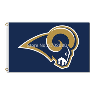 Los Angeles Rams Flag Super Bowl Champions Fan 3ft X 5ft World Series Football Team Rams Logo Banner Flag