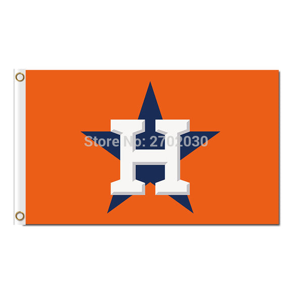 Houston Astros Flag Baseball Super Fan Team Banners Major League Flags World Series Champions Banner 90x150 Cm Orange Blue Star