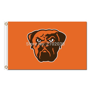 Orange Cleveland Browns Flag Football Sport Team Super Bowl Champions World Series Football Fan 90 X 150 Cm Banner