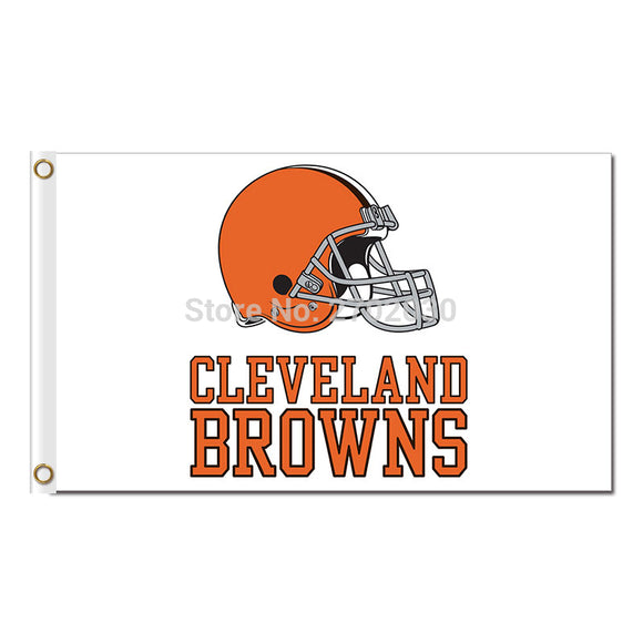 White Flags Cleveland Browns Flag Football Super Bowl Team World Series Champions Football Fans 3ft X 5ft Banner