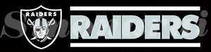 Oakland Raiders Tailgate Banners Flags 2*8ft Customized Hanging Flag 110g Knitted Polyester With Gromets 60*240CM