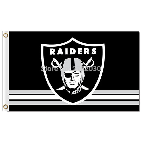 Oakland Raiders Flag 3ft X 5ft Polyester Banner 90x150cm RAIDER NATION Premium Team World Series Oakland Raiders Banner Flag