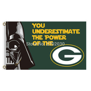 You Underestimate Green Bay Packers Flag Banners Sport Football Team Flags 3x5 Ft Super Bowl Champions Banner Flying Printed