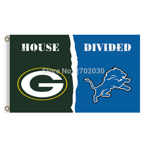 Green Bay Packers Flag Vs Detroit Lions Banners Sport Football Team Flags 3x5 Ft Super Bowl Champions Banner 90 X 150 Cm