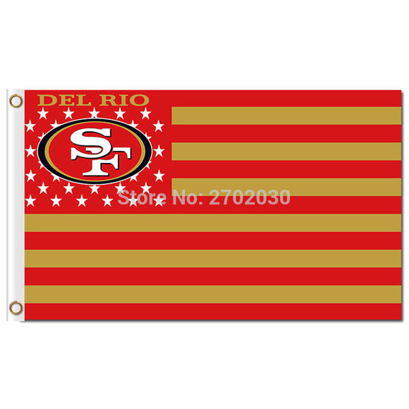 San Francisco 49ers USA Stars And Stripes Flag And Banner World Series Sport Football Team San Francisco 49ers US Banner