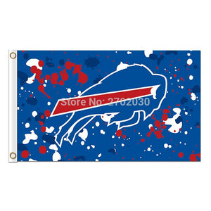 Blue Spots Buffalo Bills Logo Flag Football Sport Fan Team Super Bowl Champions 3ft X 5ft 100D Blue Red Banner