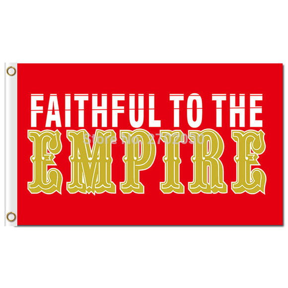 San Francisco 49ers Gold Faithful Banner Flag 3ft X 5ft Sport Club Fan Flag Faithful To The Empire Red San Francisco 49ers