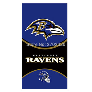 Hanging Decoration Baltimore Ravens Flag Football Team Super Bowl Champions 3ft X 5ft 100D Polyester Banner