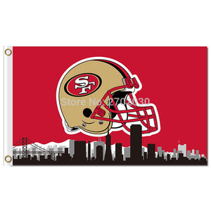 San Francisco 49ers Flag Helmet Edition Digital Print Polyester Banner 3x5ft Sports Decoration City San Francisco 49ers Banner