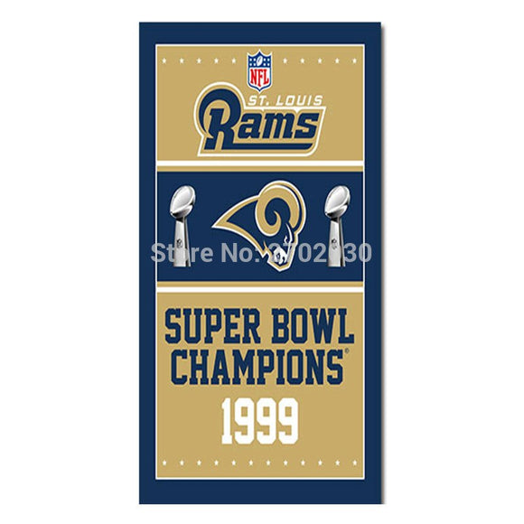 Los Angeles Rams Flag Super Bowl Champions 1999 World Series Los Angeles Rams Helmet Custom Banner 100D Polyester Flag 3ft x 5ft