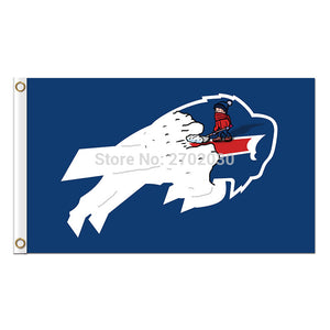 Buffalo Bills Flag Team Colors Super Bowl Champions 3 X 5ft Banner Custom Bills Flags Banner Stand Colours