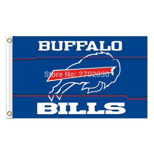 Buffalo Bills Mafia Flag Football Premium Team Super Bowl Champions 3ft X 5ft 100D Polyester Printed Blue Red Banner
