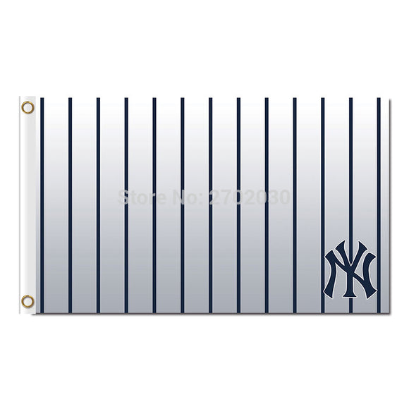Printed Hand Blue Strip New York Yankees Flag Baseball World Series Champions Super Fan Team Flags Banner Banners