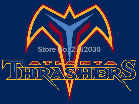 Atlanta Thrashers Ice Hockey Sports Team Flag 3ft X 5ft Custom Banner With Sleeve Two Gromets 90*150CM