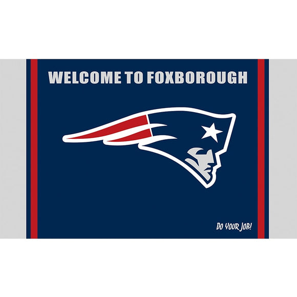 Welcome To Foxborough New England Patriots Flag Banner Super Bowl Champions Flags 3x5Ft Patriots Banners Flying