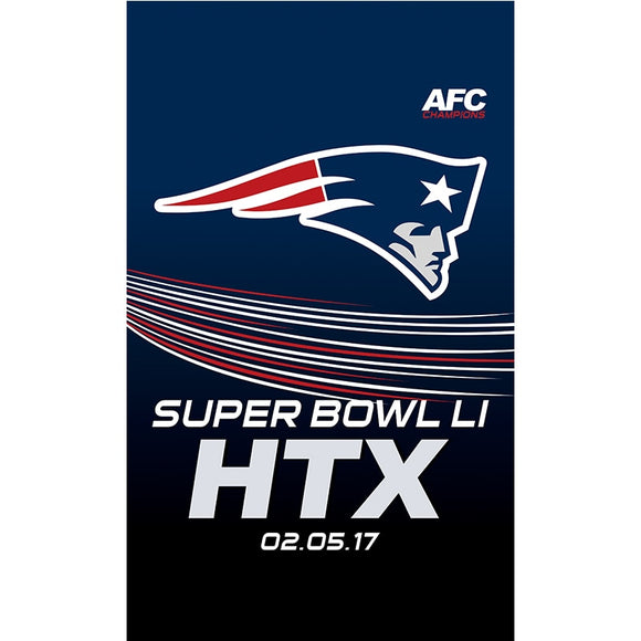 Htx New England Patriots Flag Banner Super Bowl Li Champions Flags 3x5Ft Patriots Banners Custom Hanging Decoration
