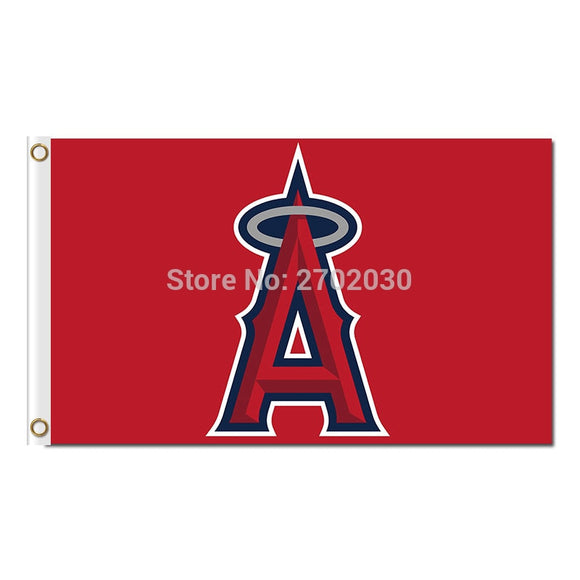 Red Los Angeles Angels Of Anaheim Flag Banner World Series Champions Baseball Cub Fan Team Flags 90x150cm Banners 100D Polyester