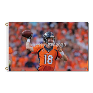 18 Frank Tripucka Broncos Flag Banner Super Bowl Champions Team Fan 3x5 FT Banner World Series Custom Denver Broncos Banners