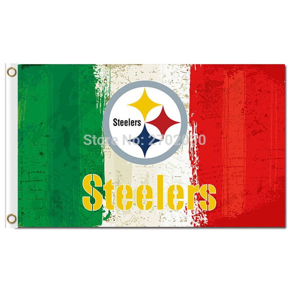 Pittsburgh Steelers Flag Colors World Series Football Team 3ft X 5ft Pittsburgh Steelers Banner Custom Flag