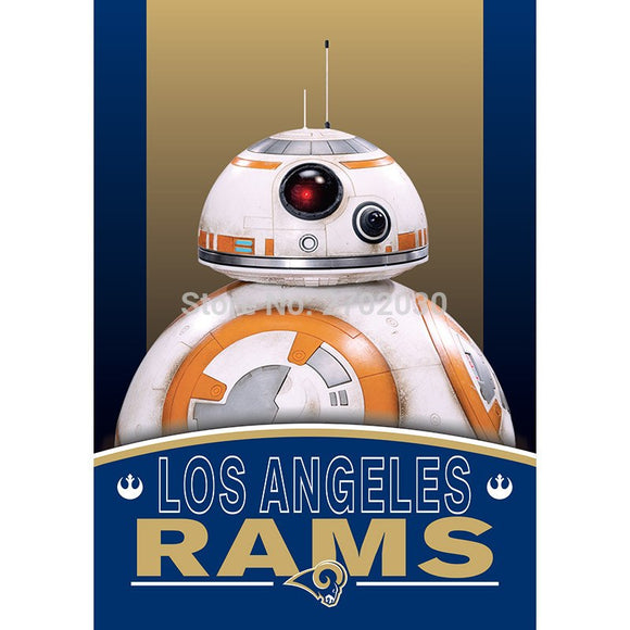 2pcs Los Angeles Rams Flag World Series Football Team 27 X 37 Inch Banner Vertical Super Bowl Los Angeles Rams Banner