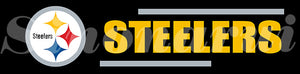 Pittsburgh Steelers Tailgate Banners Flags 2*8ft Customized Hanging Flag 110g Knitted Polyester With Gromets 60*240CM