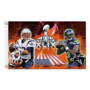 New England Patriots Us Country Design Flag Football Banners 3ft X 5ft Banner Super Bowl Champions Custom Flag Tom Brady