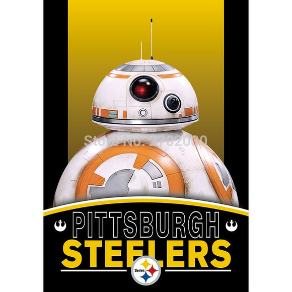 2pcs Pittsburgh Steelers Flag World Series Football Team 27 X 37 Inch Banner Vertical Super Bowl Pittsburgh Steelers Banner Flag
